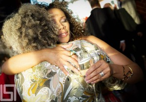 Hugging one of my great mentors and dear friend, film maker Kasi Lemmons