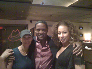 With actors and long time friends Blair Underwood and Tamara Tunie.