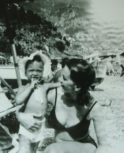 With my mother in Italy. (1964)