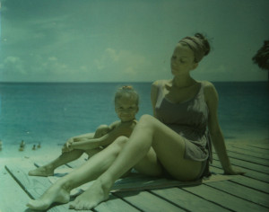 With my mother (Sonja van Beers) and little me in the Bahamas. (circa '73))