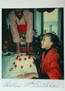 My 13th Birthday in our old beautiful NY apartment. Chip made me homemade strawberry short cake each year until I discovered chocolate.