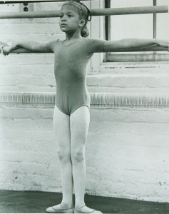 Little me at the barre. (7 yrs. old)