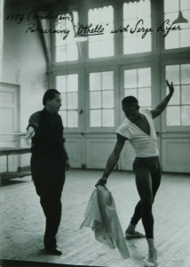 Rehearsing OTHELLO created for him by Serge Lifar. My mother danced the role of Desdemona