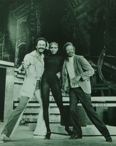 Publicity photo for BUBBLING BROWN SUGAR, choreographed by my father garnering him his first of three Tony nominations. He is in the photo along with two of the stars in that show Vivian Reed and Avon Long.