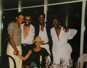 After performing in Maurice Hines's show HARLEM SUITE in DC. Todd Hunter, Maurice Hines, Chip Garnett and my father.We danced our butts off! I still have that hat! LOL!