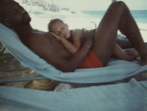 With my father on Paradise Island in the Bahamas. (circa '72/'73)