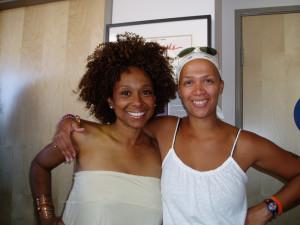With friend & dancer extraordinair Wynonna Smith.