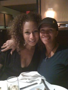 With actress/producer Tamara Tunie 2010